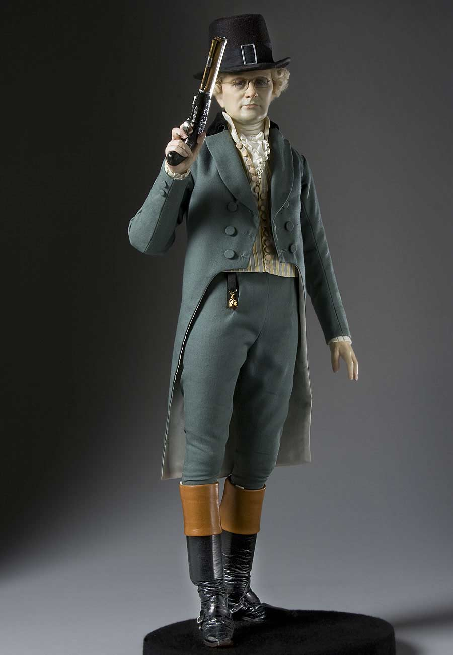 Full length color image of Alexander Hamilton aka.