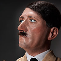 Right closup color image of Adolf Hitler aka. Gröfaz, by George Stuart.