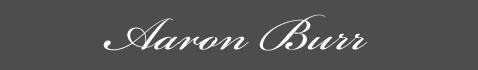 Text: Signature image of Aaron Burr aka.