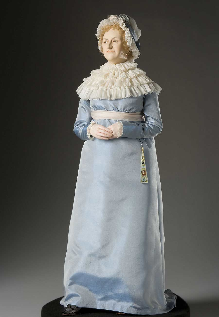 Full length color image of Abigail Adams aka.