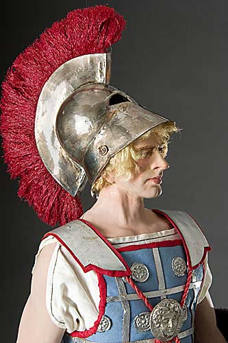 Portrait length color image of Alexander the Great aka. Alexander III of Macedon , by George Stuart.