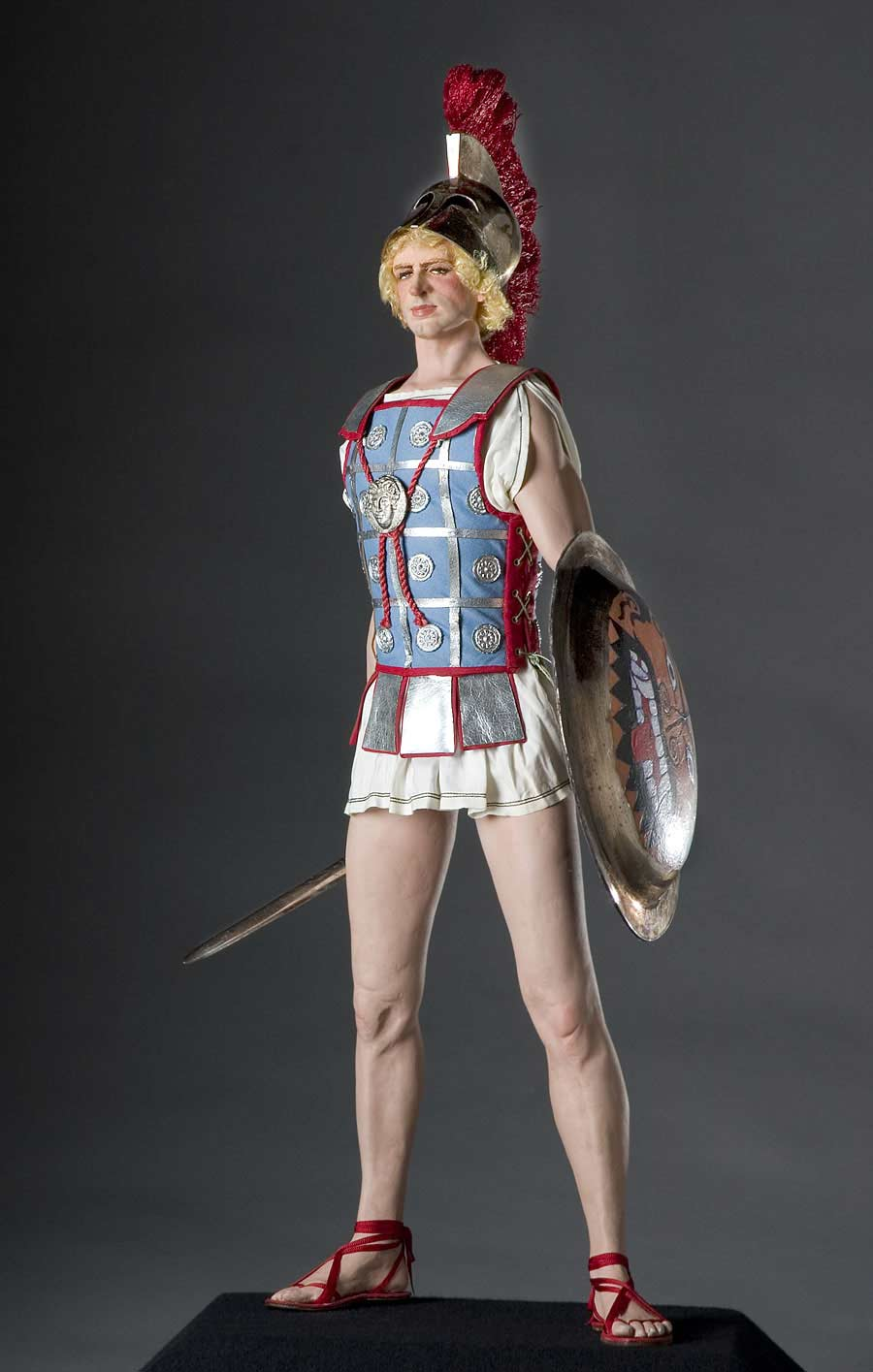 Full length color image of Alexander the Great aka. Alexander III of Macedon , by George Stuart.
