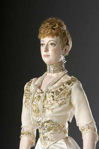 Portrait length color image of Alexandra Princess of Wales (v1) aka. Alexandra of Denmark , by George Stuart.