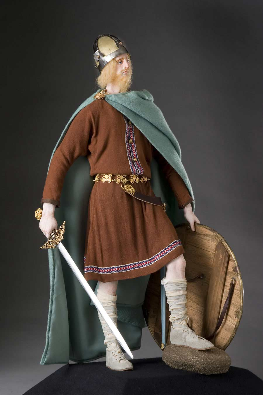 Full length color image of Alfred the Great aka.