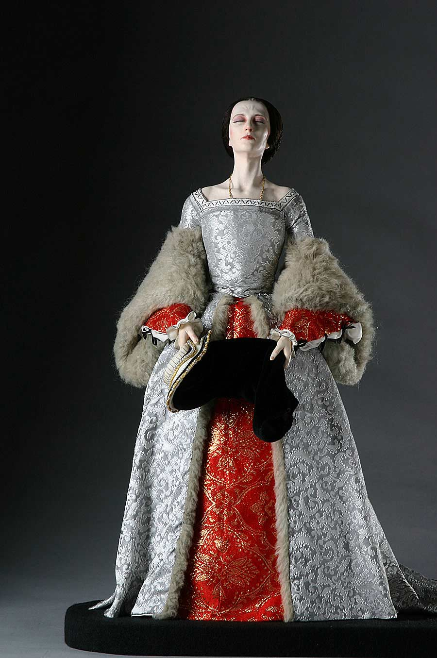 Full length color image of Queen Anne Boleyn aka. Marquess of Pembroke , by George Stuart.