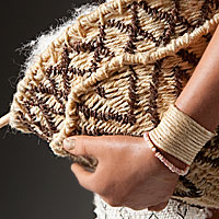 Left close up color image of Arawak Woman, by George Stuart.