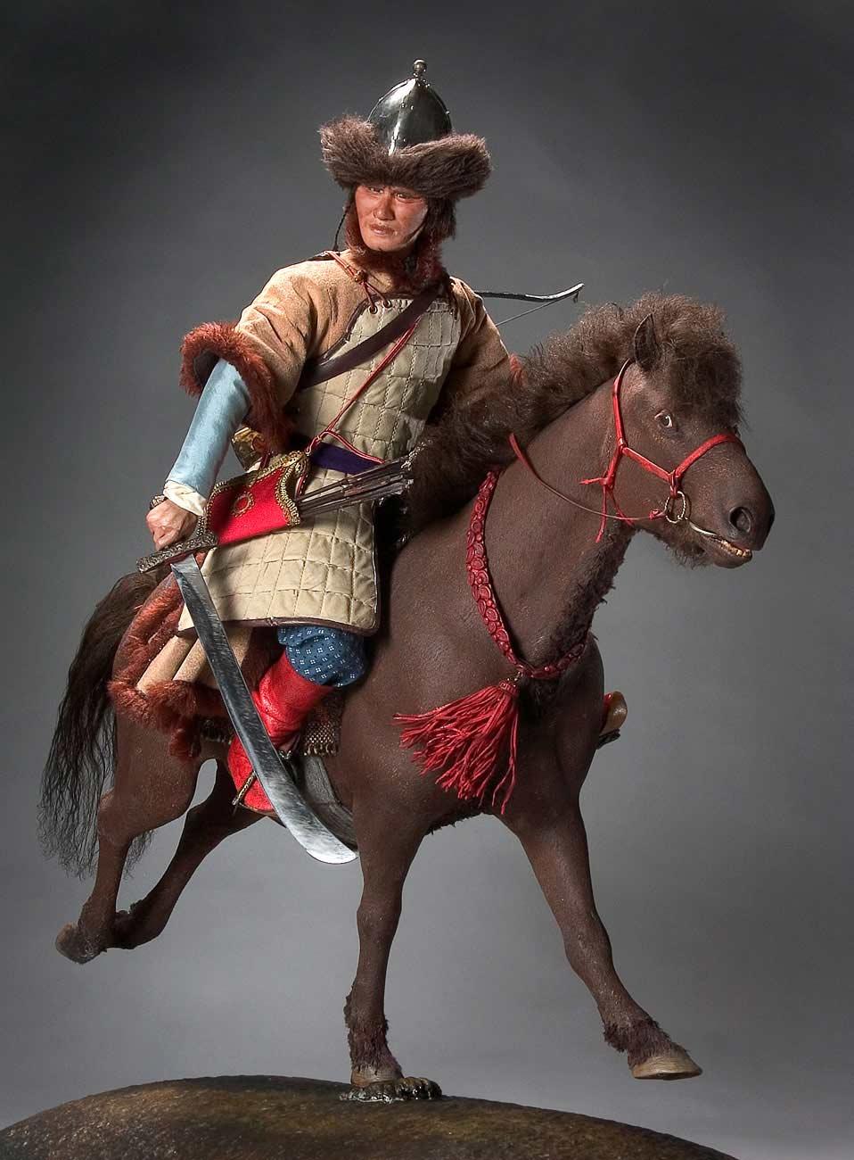 Full length color image of Attila the Hun aka.