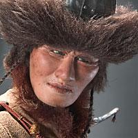 Right closup color image of Attila the Hun aka.