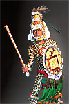Thumbnail color image of Aztec Leopard Warrior V.1 aka. pīpilti military class, by George Stuart.