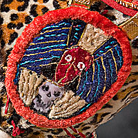 Left close up color image of Aztec Leopard Warrior V.2, by George Stuart.