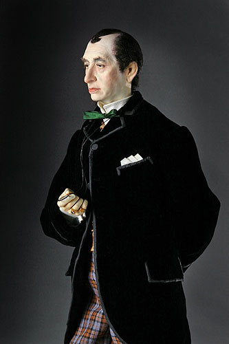 Portrait length color image of Benjamin Disraeli aka. Earl of Beaconsfield, by George Stuart.