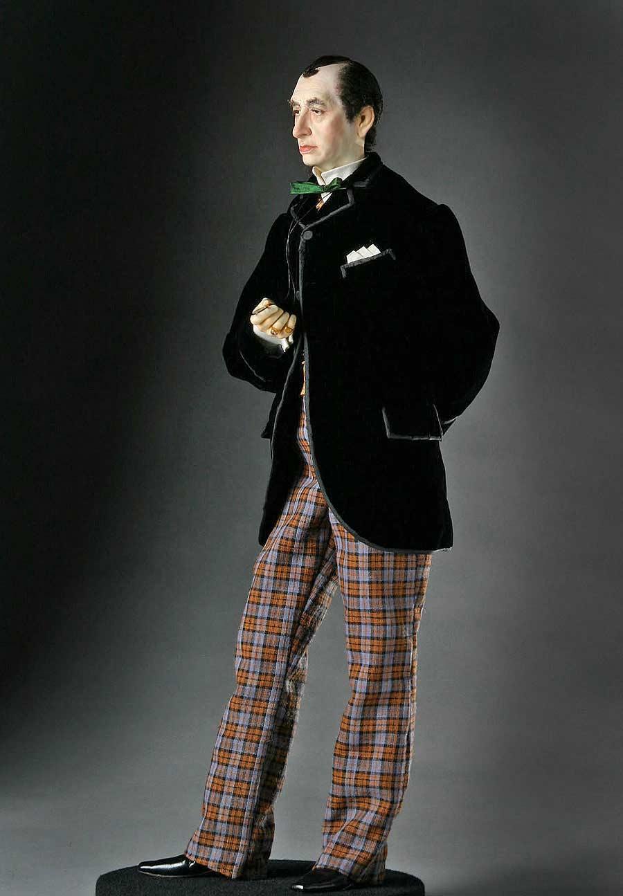 Full length color image of Benjamin Disraeli aka. Earl of Beaconsfield, by George Stuart.