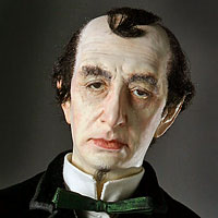 Left close up color image of Benjamin Disraeli aka. Earl of Beaconsfield, by George Stuart.