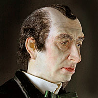 Right closup color image of Benjamin Disraeli aka. Earl of Beaconsfield, by George Stuart.