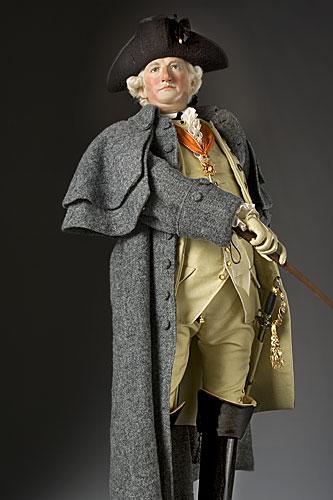 Portrait length color image of Baron Von Steuben aka. Friedrich Wilhelm von Steuben, by George Stuart.