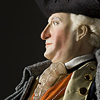 Right closup color image of Baron Von Steuben aka. Friedrich Wilhelm von Steuben, by George Stuart.
