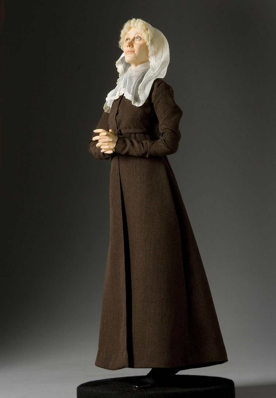 Full length color image of Baroness Krudener aka. Barbara von Krüdener, by George Stuart.