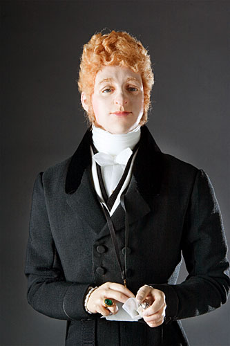 Portrait length color image of Beau Brummell aka. George Bryan Brummell, by George Stuart.