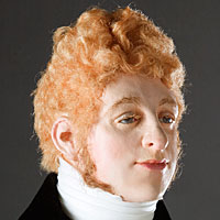 Left close up color image of Beau Brummell aka. George Bryan Brummell, by George Stuart.