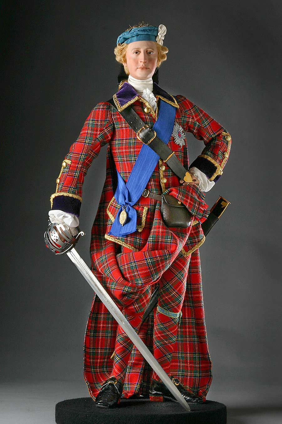 Full length color image of Bonnie Prince Charlie aka. Charles Edward Stuart, by George Stuart.