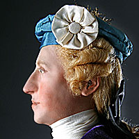 Right closup color image of Bonnie Prince Charlie aka. Charles Edward Stuart, by George Stuart.