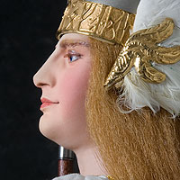 Right closup color image of Brunhild Warrior, by George Stuart.