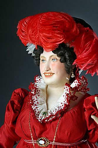 Portrait length color image of Caroline von Brunswick aka. Queen Caroline,  Caroline of Brunswick, by George Stuart.