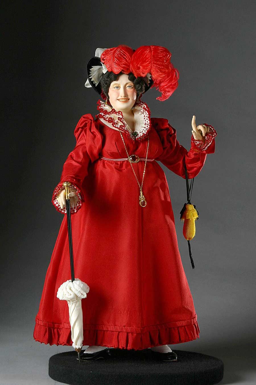 Full length color image of Caroline von Brunswick aka. Queen Caroline,  Caroline of Brunswick, by George Stuart.