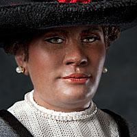 Left close up color image of C. J. Walker aka. Sarah Breedlov, by George Stuart.