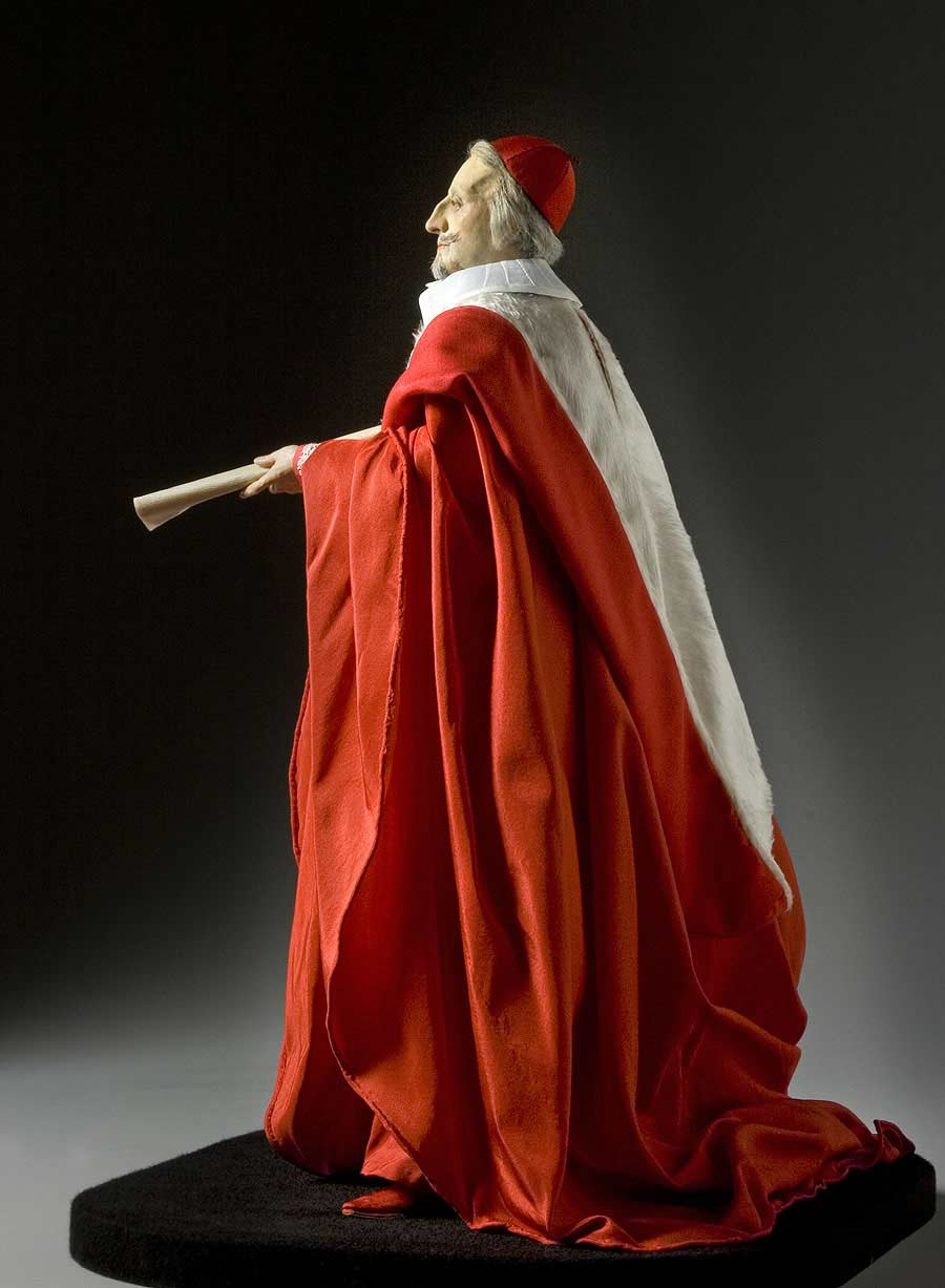 Full length color image of Cardinal Richelieu, by George Stuart.