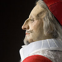 Right closup color image of Cardinal Richelieu aka. Armand Jean du Plessis, Cardinal-duc de Richelieu et de Fronsac,