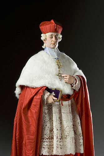 Portrait length color image of Cardinal de Rohan aka. Louis René Édouard de Rohan , by George Stuart.