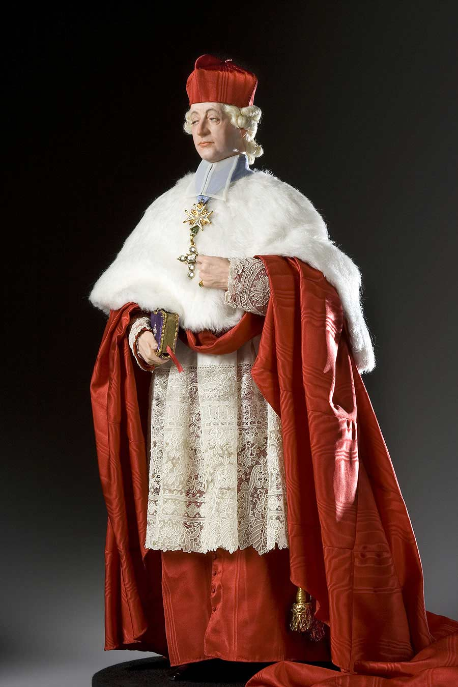 Full length color image of Cardinal de Rohan aka. Louis René Édouard de Rohan , by George Stuart.