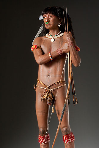 Portrait length color image of Caribe Warrior, by George Stuart.