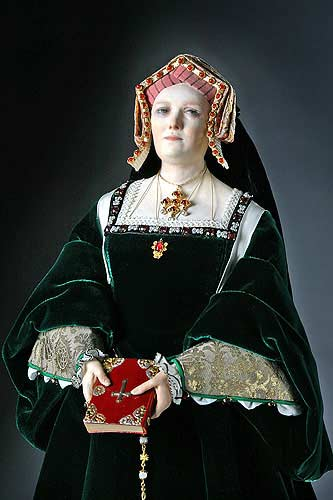 Portrait length color image of Catherine of Aragon aka. Catalina de Aragón, by George Stuart.