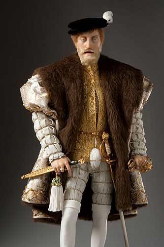 Portrait length color image of Charles V aka. Charles V of Spain, Holy Roman Emperor,