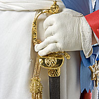 Left close up color image of Charles X aka. Charles X of France, Charles Count of Artois , by George Stuart.