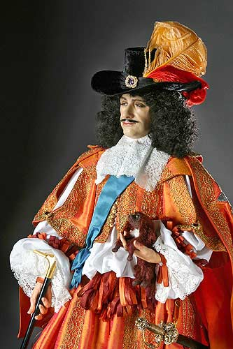 Portrait length color image of Charles II (v2) aka. Charles II of England,  Scotland, and Ireland., by George Stuart.