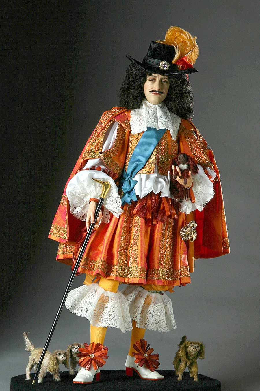 Full length color image of Charles II (v2) aka. Charles II of England,  Scotland, and Ireland., by George Stuart.