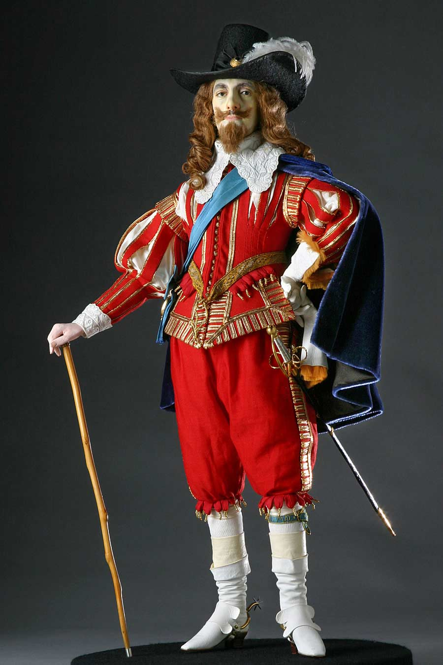 Full length color image of Charles I aka. Charles I of England, by George Stuart.