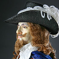 Right closup color image of Charles I aka. Charles I of England, by George Stuart.