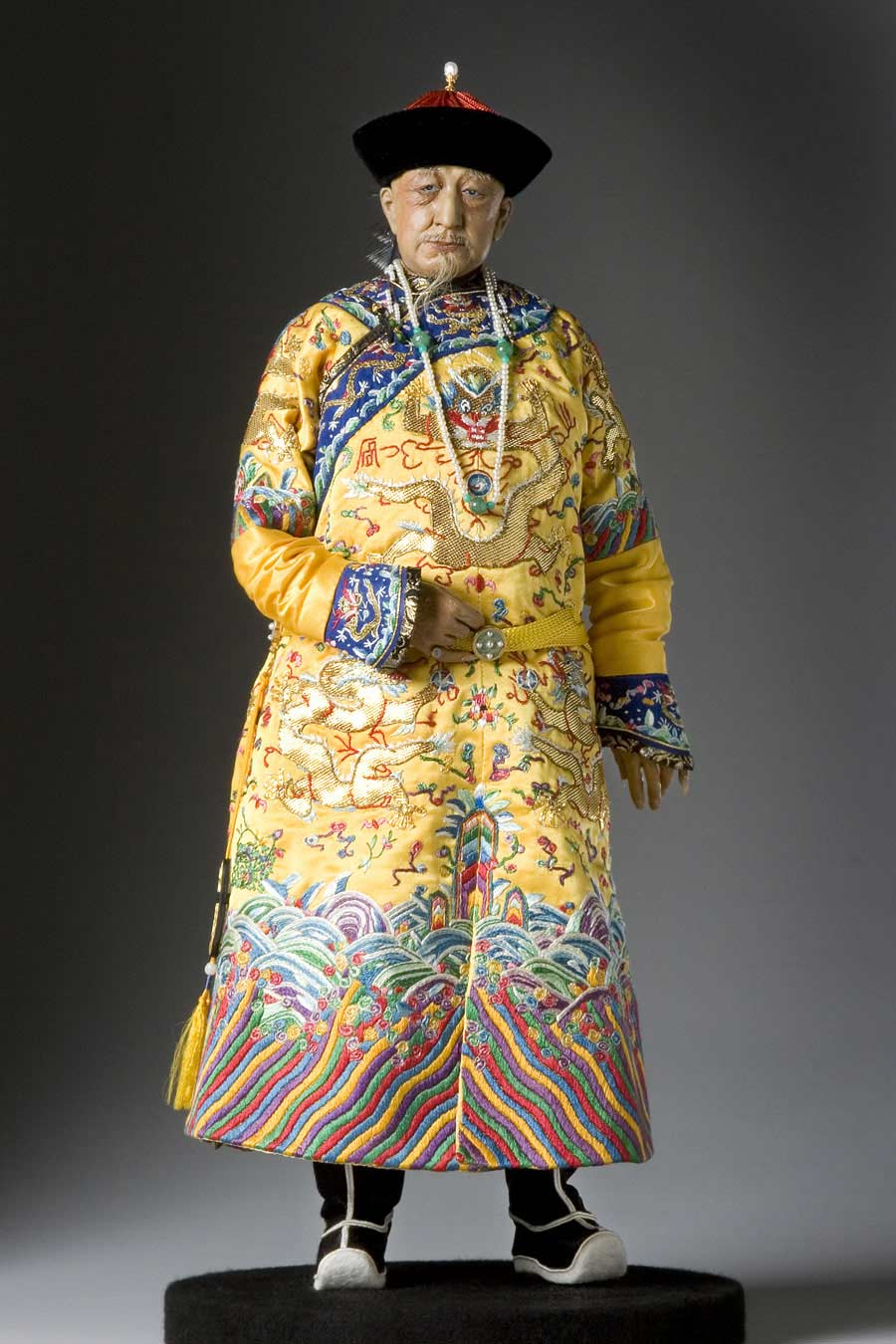 Full length color image of Ch'ien-lung Emperor aka. Qianlong Emperor, by George Stuart.