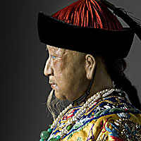 Right closup color image of Ch'ien-lung Emperor aka. Qianlong Emperor, by George Stuart.