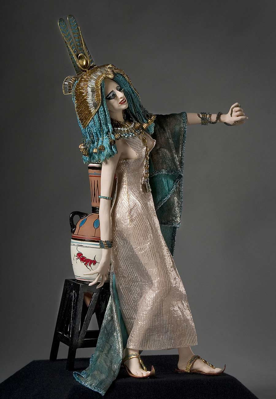 Full length color image of Cleopatra aka. Cleopatra VII Philopator, by George Stuart.