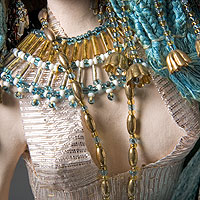 Left close up color image of Cleopatra aka. Cleopatra VII Philopator, by George Stuart.