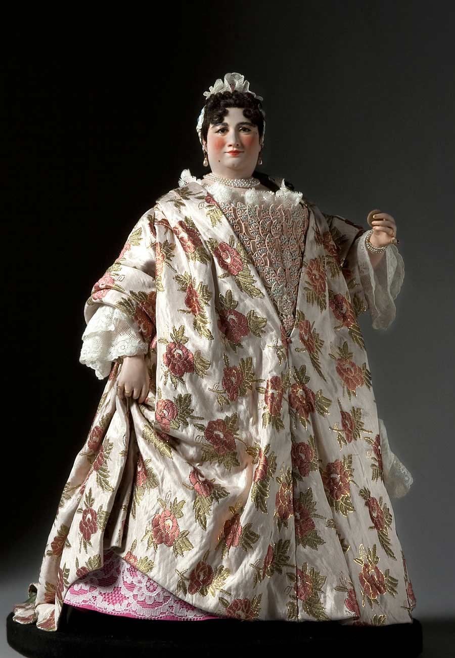 Full length color image of Countess of Darlington aka. Sophia von Kielmansegg, by George Stuart.