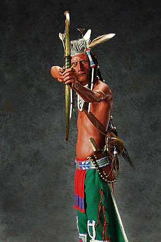 Portrait length color image of Crow Sharpshooter, by George Stuart.