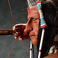 Right closup color image of Crow Sharpshooter, by George Stuart.
