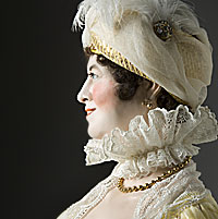 Right closup color image of Dolley Madison aka. Dorthea Todd, by George Stuart.
