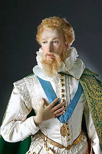 Portrait length color image of Earl of Essex aka. Robert Devereux, by George Stuart.